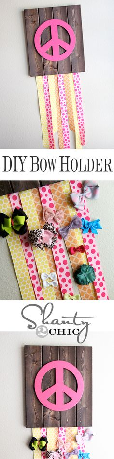 DIY Bow and Clip Holder --- might have to start making these! Live this!