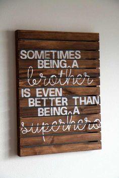 Best craft for boys room brother Ideas – Boy Room 2020 Wood Pallet Signs, Wooden Signs, Pallet Art, Crafts For Boys, Fun Crafts, Deco Studio, Kids Bedroom, Bedroom Ideas, Boy Bedrooms