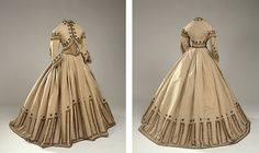 FOR ORDERS ONLY- Custom Made - 1800s Victorian Traveling Dress 1860s Civil War Gown - Jacket Skirt Bodice - Reenactor