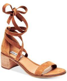 b0329df9f9521 Steve Madden Women s Rizza Lace-Up Block-Heel Sandals Shoes - Sandals    Flip Flops - Macy s