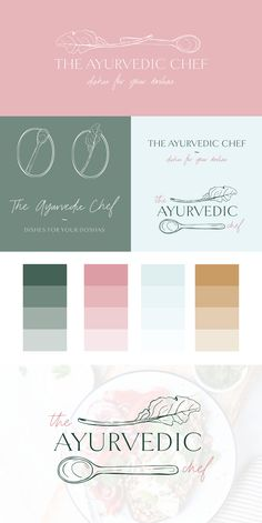 Brand board for Tiffany from the Ayurvedic Chef.