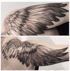 - Tattoo's - 2 tomas trendy tattoo shoulder back men angel wings Tattoo Sleeve Angel Wings For Men 47 Ideas 35 Breathtaking Wings Tattoo Designs Eagle Wing Tattoos, Wing Tattoos On Back, Wing Tattoo Men, Feather Tattoos, Forearm Tattoos, Body Art Tattoos, Sleeve Tattoos, Angel Wings Tattoo On Back, Tatoos