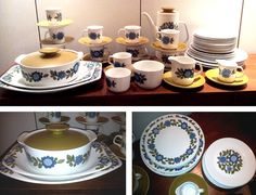 1960s J Meakin Studio, Topic Ware 50 Piece Dinner Service