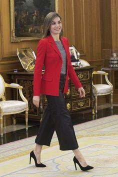 MyRoyals:  Queen Letizia attended audiences at Zarzuela Palace, April 13, 2016