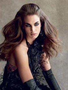 big wavy hairstyle - Alberta Ferretti | allure.com