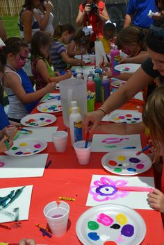 Art/Painting Birthday Party Ideas | Photo 17 of 48 | Catch My Party