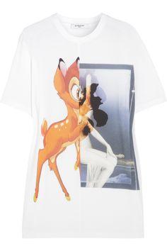 Givenchy|Bambi print cotton-jersey T-shirt|NET-A-PORTER.COM