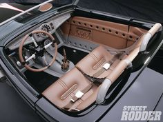 The American Speed Companys Speed33 Interior. bomber seats with upholstery