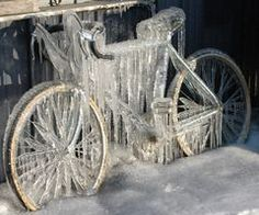 Brrrr. This is why one should never leave their bike out in the elements.