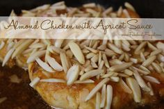 Almond Chicken with Apricot Sauce recipe. So yummy.  Served with rice pilaf and broccoli make a very delicious/healthy meal