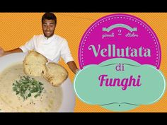 Vellutata di funghi (facile e veloce) light e vegetariana- mushrooms soup (light and Vegetarian) - YouTube