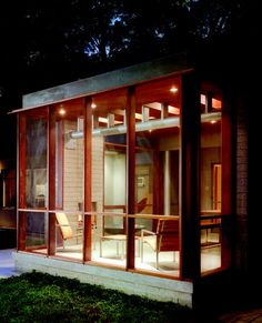 Awesome modern screen porch design