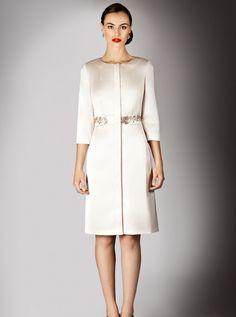 Bride Coats | Coast - Hermosa Satin Coat, £195 - Wedding Dresses for Mature Brides ...
