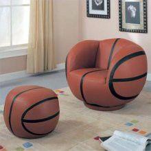 basketball chair and ottoman. baron would love this!