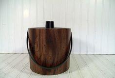 Retro Faux Wood Vinyl & Black Trim Ice Bucket  by DivineOrders, $23.00