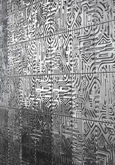 'Metropolis Series'  Aluminum Wall Tiles by; David Umemoto...