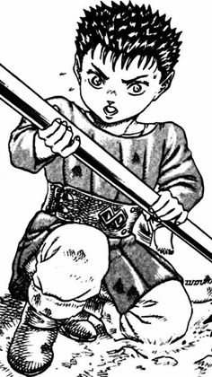 Guts in Berserk 328...Spring Blossoms of Another Day