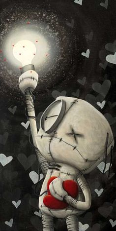 "Fabio Napoleoni ""Never Dark When You Hold Onto Hope"" Ltd SN Canvas -14"" X 28"" Edition of 150"