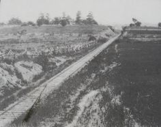The railroad cut, scene of bloody fighting on thethe first day.----oldest photos of gettysburg - Google Search