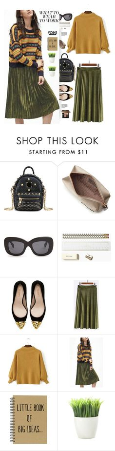 """""""Yoins.com: What to wear To work"""" by hamaly ❤ liked on Polyvore featuring Anya Hindmarch, CÉLINE, Kate Spade, Zara, Kikkerland, Bobbi Brown Cosmetics, yoins, yoinscollection and loveyoins"""