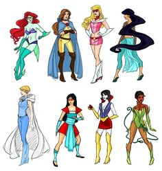 Disney Princesses meets Marvel and DC? Kida Disney, Walt Disney, Disney And Dreamworks, Disney Pixar, Star Wars Personajes, Disney Movies, Disney Characters, Disney Villains, Disney Magic