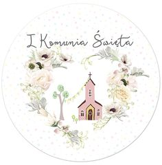 Opłatek na tort komunijny uniwersalny Ø 20 SAKRAMENTO Sakramento.pl Communion Cakes, First Communion, Easy Diy Crafts, Crafts For Kids, Freebies, Digital Stamps, Kids Playing, Cardmaking, Decoupage