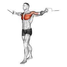 Gym Workout Videos, Gym Workout For Beginners, Gym Workouts, Crossover, Chest Routine, Male Figure Drawing, Back Pain Exercises, Chest Muscles, Black Fitness
