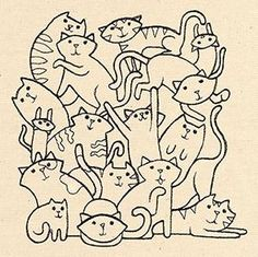 Kitty Pile  - Urban Threads great designs of all sorts!