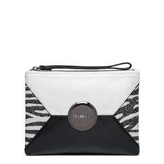 #mimco #mimzine Zebra Medium Pouch Mimco Pouch, Fashion Brenda, Trophy Design, Zebra Print, Gift Guide, Purses And Bags, Zip Around Wallet, Cool Designs, Handbags