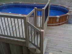Small Backyard Pools, Backyard Patio Designs, Swimming Pools Backyard, Diy Patio, Decks Around Pools, Pool Decks, Outdoor Landscaping, Outdoor Pool, Patio Plans