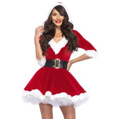 f27efb00efc5 Mrs. Claus 2-Piece Santa Christmas Costume Leg Avenue Women's NEW!