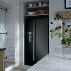 Rangemaster RSXS15BL/C - American Style Fridge Freezer Ice & Water | Appliance City