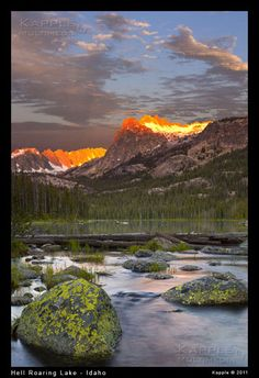 Hell Roaring Lake Sawtooth Mountains Idaho Great Places, Beautiful Places, Beautiful Pictures, Foto Nature, Places To Travel, Places To Visit, Sawtooth Mountains, God Is Amazing, Forest Road