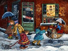 First Snow painted by Pauline Paquin, 1000 Piece Jigsaw Puzzle Made by Ravensburger: Amazon.ca: Toys & Games