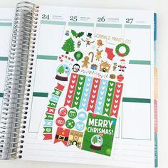 Christmas Sampler Glossy Planner Stickers by ScribblePrintsCo