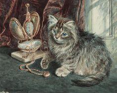 Скачать обои животные, котенок и часы, Wilson Hepple 1280x1024