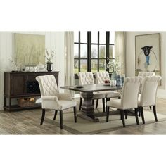 Furniture Of America Cm3353Rt Cm3353Sc Ornette 7 Pieces Classy 7 Piece Round Dining Room Set Decorating Inspiration