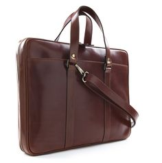 Leather Briefcase Carter Sol - £395 GBP