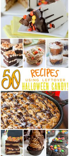 Got some Halloween candy laying around that needs a new home? I'm sharing 50 Recipes Using Halloween Candy!!