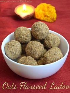 This is a guilt free & sugar free ladoos which consists of oats, peanuts, flaxseed and jaggery along with the goodness of ghee. Each ing… - This is a guilt free & sugar free ladoos which consists of oats, peanuts, flaxse. Healthy Bars, Healthy Cake Recipes, Sugar Free Recipes, Sweets Recipes, Baby Food Recipes, Snack Recipes, Cooking Recipes, Healthy Munchies, Indian Dessert Recipes