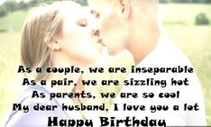 Birthday Wishes for Husband: Quotes and Messages Special Happy Birthday Wishes, Happy Birthday Hearts, Birthday Wishes For Myself, Birthday Wishes Quotes, Wishes For Husband, Birthday Wish For Husband, Message For Husband, Wife Birthday Quotes, Birthday Poems