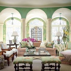 I could definitely live here!  #Repost from @archdigest Not sure who lives here but would love an invite over for a cup of jasmine tea. —@leandramedine #ADLovesColor  Photo by @scottfrancesphoto   Design by @alexahamptoninc and James Nigro