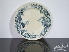 Antique French Ironstone transferware plate by BeauChateauBoutique
