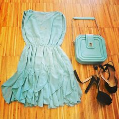 Mint Cute Sleeveless Dress Awesome Outfit