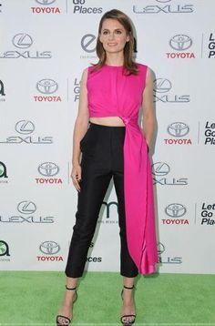Stana Katic at the Environmental Media Association Awards on October 18, 2014