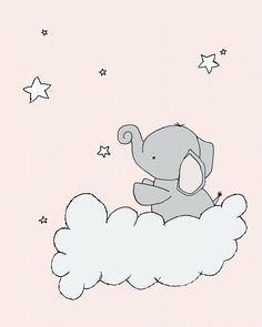 Elephant Nursery Art Print Elephant Star Cloud Pink and Gray Nursery Decor Children Art Kids Wall Art - Elephant nursery art, Art wall kids, Elephant nursery, Grey nurs - Pink Elephant Nursery, Pink And Gray Nursery, Grey Elephant, Pink Grey, Owl Nursery, Elephant Art, Art Wall Kids, Art For Kids, Art Children