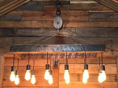 Barn Pulley Edison Bulb Chandelier Lighting Light Fixture