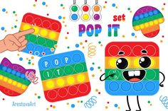 Stress Toys, Cartoon People, Vector Clipart, Fidget Toys, Cards For Friends, Pop, Baby Design, Cool Baby Stuff, Dimples