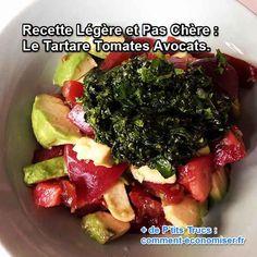 Découvrez la recette légère et économique du tartare aux tomates, avocats et pesto !  Découvrez l'astuce ici : http://www.comment-economiser.fr/recette-legere-et-pas-chere.html?utm_content=bufferbedda&utm_medium=social&utm_source=pinterest.com&utm_campaign=buffer