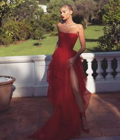 Elsa Hosk 2018 Cannes Film Festival Red Carpet Red Prom Dresses, The Most Jaw-Droppingly Beautiful Dresses From the Cannes Film Festival Tulle Prom Dress, Strapless Dress Formal, Dress Up, Dress Party, Dress Lace, Dress Night, Blazer Dress, Fitted Prom Dresses, Outfit Night